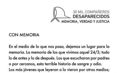 """""""Con memoria"""" por Hugo Quintana"""