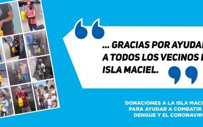 Donaciones en Isla Maciel