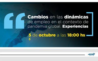 Charla | Cambios en las dinámicas de empleo en el contexto de pandemia global