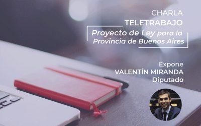 Charla | Teletrabajo: Proyecto de Ley para la provincia de Buenos Aires